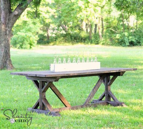outdoor farm table ideas  pinterest rustic outdoor dining furniture farm table