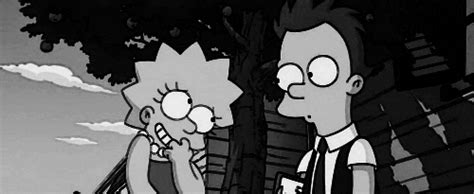 lisa simpson flirt find and share on giphy