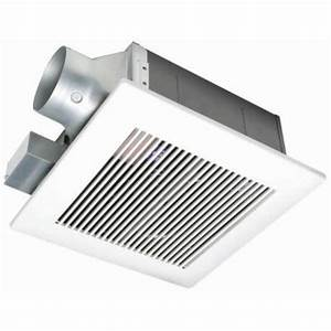 panasonic whisperfit 110 cfm ceiling low profile exhaust With panasonic bathroom fans home depot