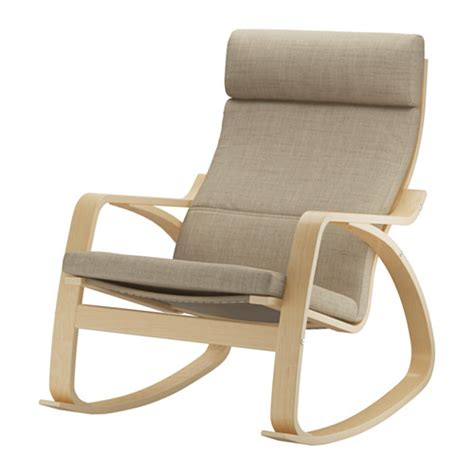 chaise rocking chair poäng rocking chair isunda beige ikea