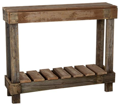 rustic wood entry table barnwood entry table rustic console tables by del