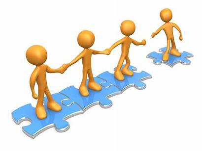 Clipart Puzzle Holding Hands Another Team Pieces