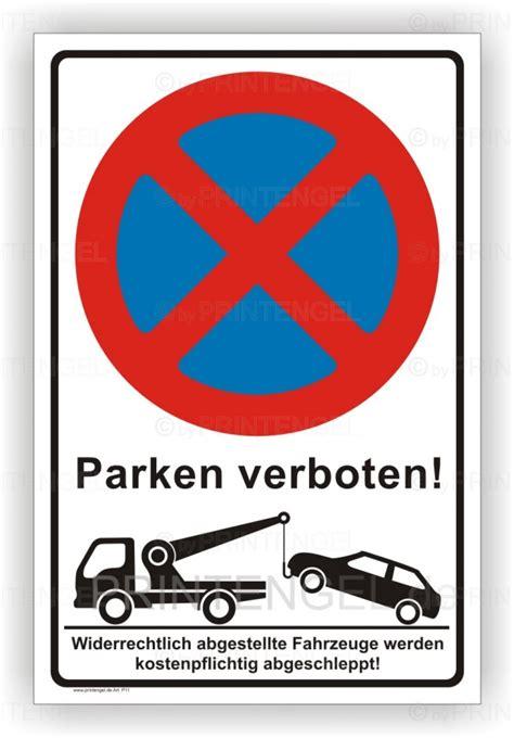 parken vor garage schild ladezone bitte freihalten
