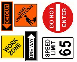 Kid Construction Sign Stickers