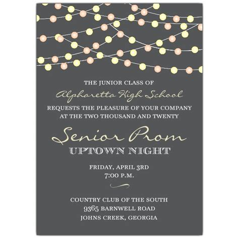 night lights prom invitations paperstyle