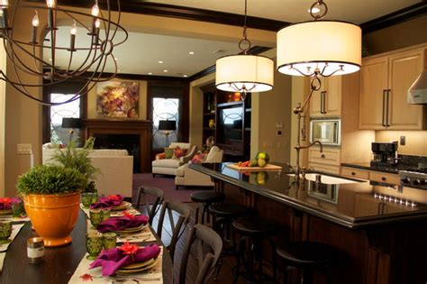 lighting  kitchen  dining room contemporary