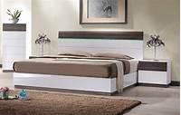 modern platform bed Lacquered Sophisticated Wood Elite Platform Bed with ...