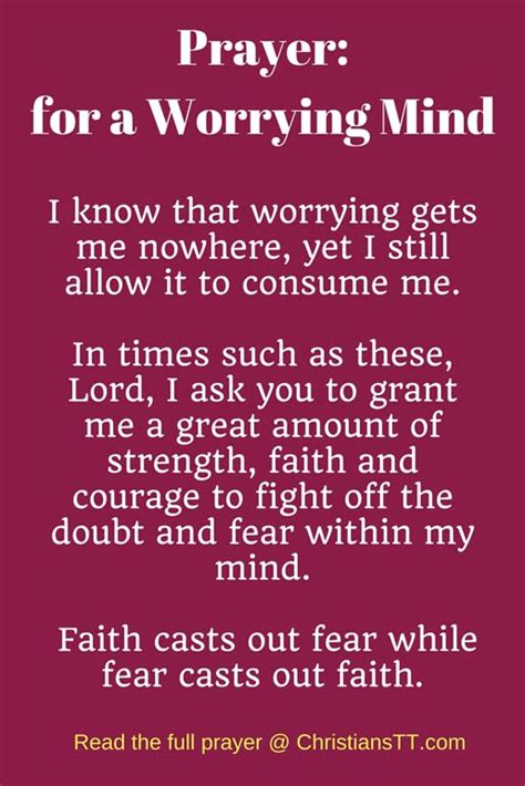 prayer   worrying mind