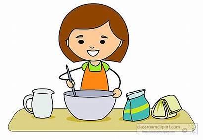 Baking Clipart Mixing Ingredients Kitchen Making Clip