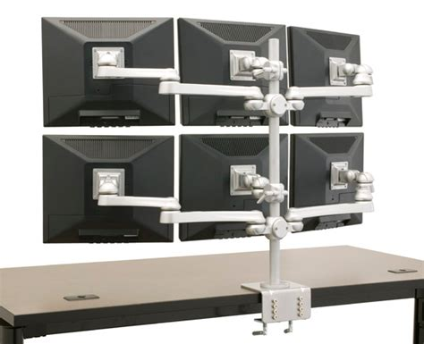 6 monitor desk mount six monitor stand mount mtr 6x