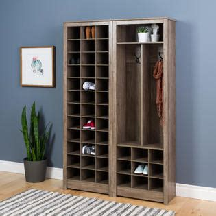 Space Saving Shoe Cabinet by Prepac Space Saving Shoe Storage Cabinet Drifted Gray