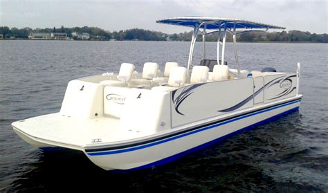 Saltwater Boats by Commercial Series Beachcat Saltwater Pontoon Boats