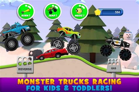 monster truck racing games for kids monster trucks game for kids 2 race against other trucks