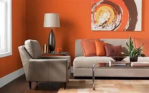 Farben Fürs Wohnzimmer Wände : farben f r wohnzimmer in orange 80 wohnideen ~ Bigdaddyawards.com Haus und Dekorationen