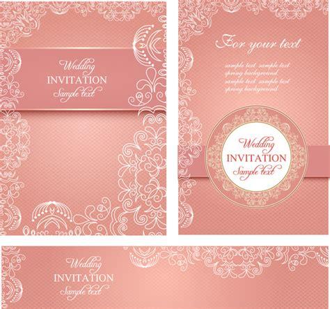 editable wedding invitations  vector