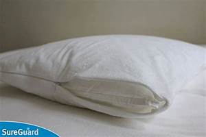 set of 2 sureguard pillow protectors 100 waterproof With bed bug body pillow cover