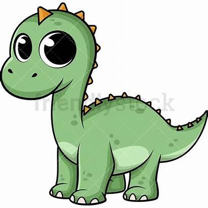 Dinosaur Cartoon Clipart Vector Friendlystock Illustration Animals