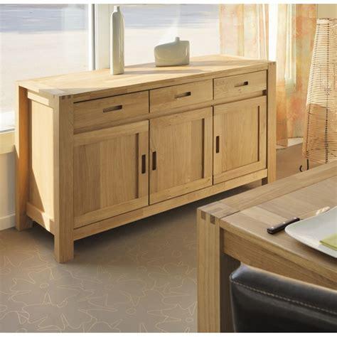 chambre a coucher complete adulte pas cher meuble buffet bahut 140cm 3 portes 3 tiroirs chêne huilé