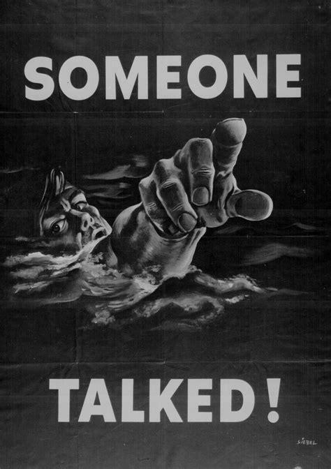 talked wwii propaganda poster