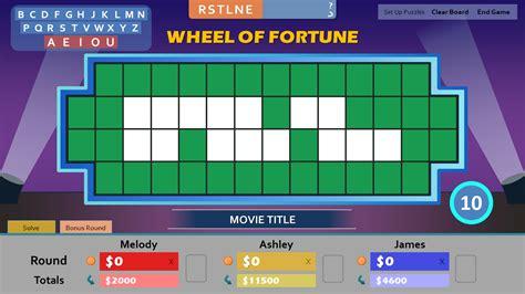 fortune wheel powerpoint bonus round tim card wild prize letter