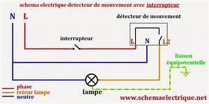 Interrupteur Detecteur De Mouvement : schema electrique branchement cablage ~ Dallasstarsshop.com Idées de Décoration