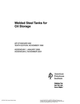 Api 650 welded steel tanks for oil storage (2) by Fabrizio ...