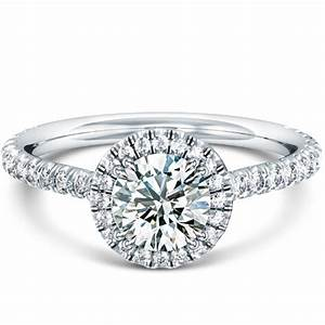 french v split prong halo engagement ring With halo rings with wedding band
