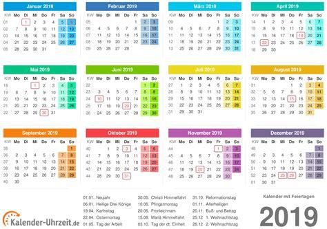 Kalender 2019 Zum Ausdrucken