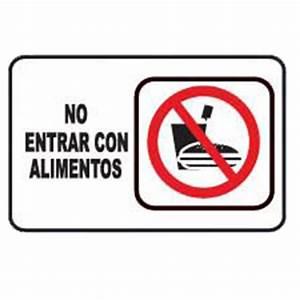 """7947 SEÑAL PLACA RIGIDA """"NO INTRODUCIR ALIMENTOS"""" AlproShop"""