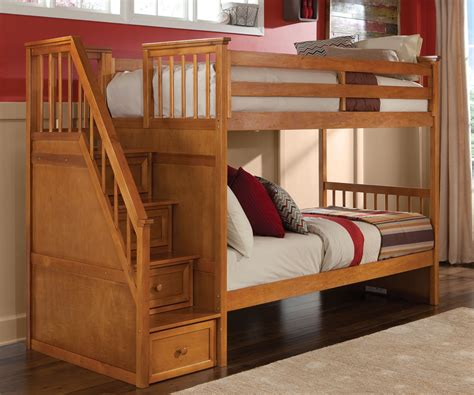 6342 bunk beds with stairs school house 6090 pecan staircase bunk bed bed frames