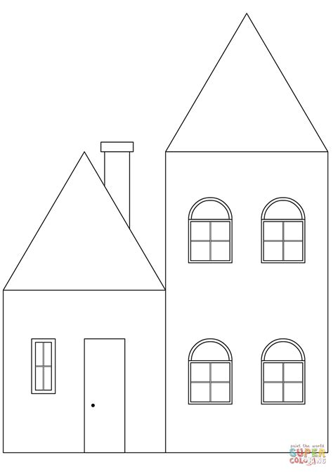 coloring house simple house coloring page free printable coloring pages