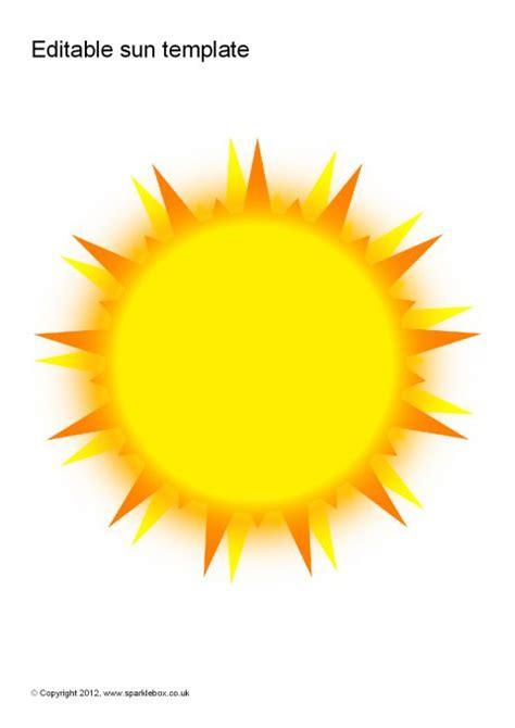 editable sun templates sb sparklebox
