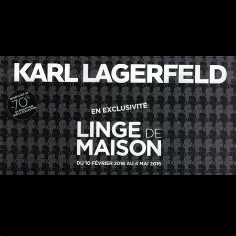 vignettes linge de maison karl lagerfeld leclerc 2017