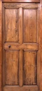 porte en pin 4 panneaux 18eme siecle portes interieures With porte de garage enroulable avec porte intérieure en pin