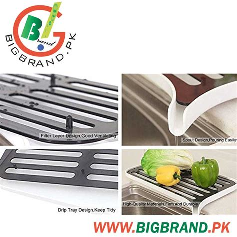 kitchen sink price in rawalpindi plastic dish drainer rack and drain board with spout