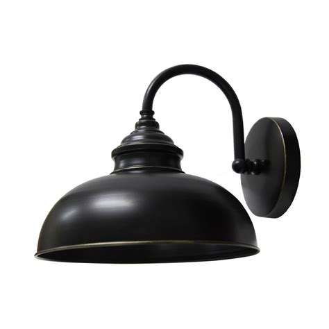 y decor 1 light imperial black outdoor wall mount sconce