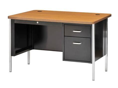 metal desk for single pedestal metal teachers desk 48 quot x30 quot desks