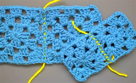 How To Sew Crochet Granny Squares Together.. Easy Peasy