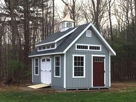 kloter farms wood sheds 12 x 20 garden elite with a mini shed dormer by kloter