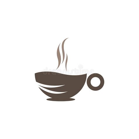 Coffee and tea symbols and icons. Coffee Cup Logo Template Vector Icon Stock Vector - Illustration of brown, graphic: 168175563