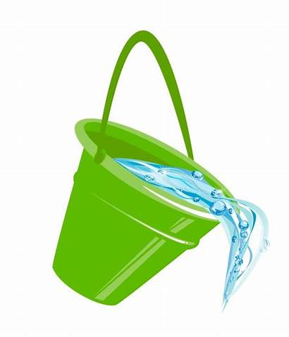 Bucket Pouring Water Clipart Tipping Clip Cliparts