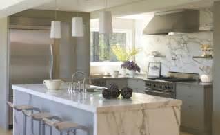 Marble Island Kitchen Calcutta Marble Island Contemporary Kitchen Ken Linsteadt Architects