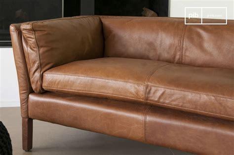 canap 233 cuir hamar style vintage au design scandinave pib