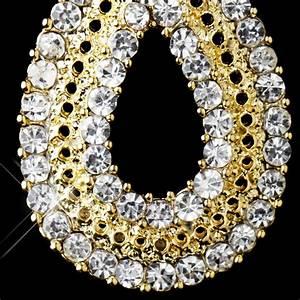 Celebration Rhinestone Drop Earrings Elegant Bridal Hair