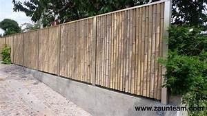 Bambus Sichtschutz Mit Edelstahl : zaun und tor referenzen von zaunteam bambus sichtschutzzaun 4142 m nchenstein zaunteam ~ Frokenaadalensverden.com Haus und Dekorationen