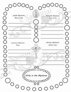 Printables  Parts Of The Rosary Worksheets  Tempojs