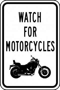 motorcycles traffic sign frr