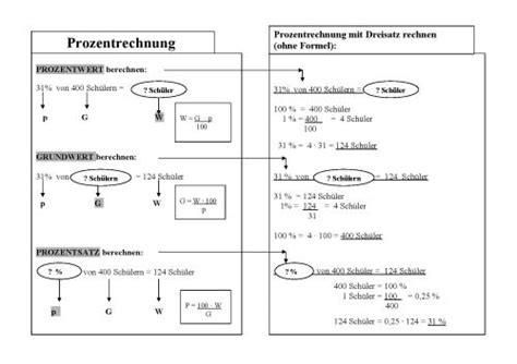 rechenregeln formeln zur prozentrechnung loesung mit