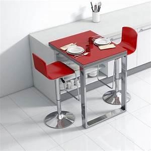 Table D Appoint Cuisine : table de cuisine d 39 appoint en verre fixation plan de ~ Melissatoandfro.com Idées de Décoration