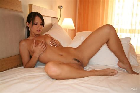 Amazing Monika Vesela Is Posing On The Bed 16 Pics